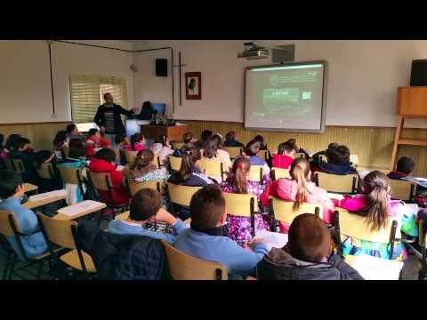 Charla sobre alimentación saludable con los alumnos de 4º de Primaria
