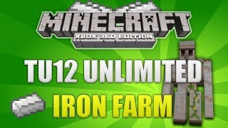 Minecraft Xbox 360 Title Update 12 Unlimted Iron Farm Creation W
