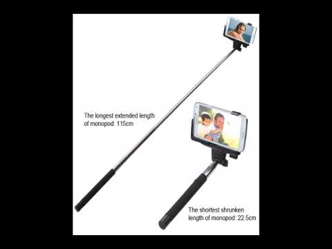 selfie stick wireless mobile phone monopod with shutter control youtube. Black Bedroom Furniture Sets. Home Design Ideas