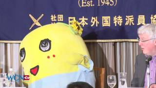 [ふなっしー] Funassyi Delights at FCCJ ENG, 日本語
