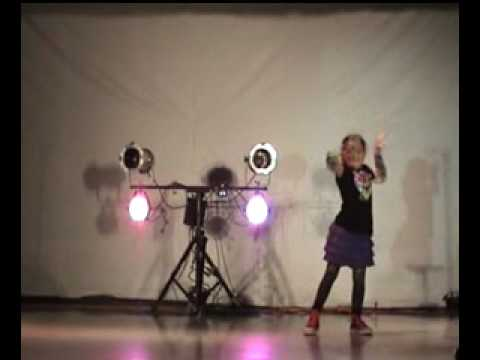Hildegarde Abney dancing at Holy Spirit School Talent Show, 1/30/10