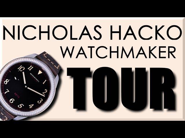 AMAZING Machine Shop Tour Nicholas Hacko Watchmaker!