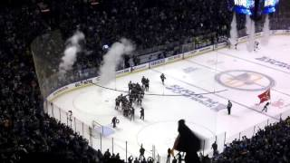Blues wins against Wild in Game 3 (NHL playoffs 2017). Fans