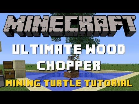 Minecraft | Mining Turtle Tutorial | Ultimate Wood Chopper | Program Spotlight