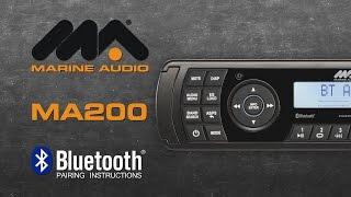 Marine Audio® | MA200 Bluetooth® Pairing Instructions
