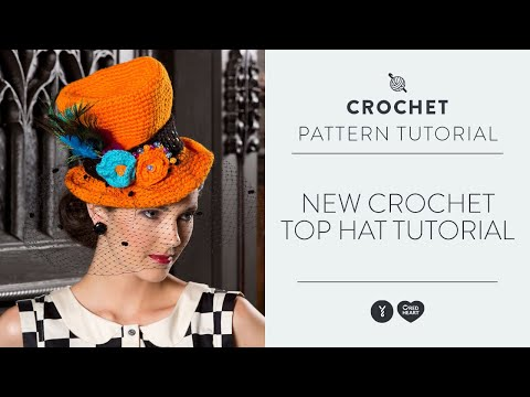 Crochet Patterns Youtube Hats : New Crochet Top Hat Tutorial - YouTube