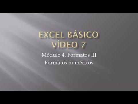 Curso Excel 2010 Básico. Video 7. Formatos III