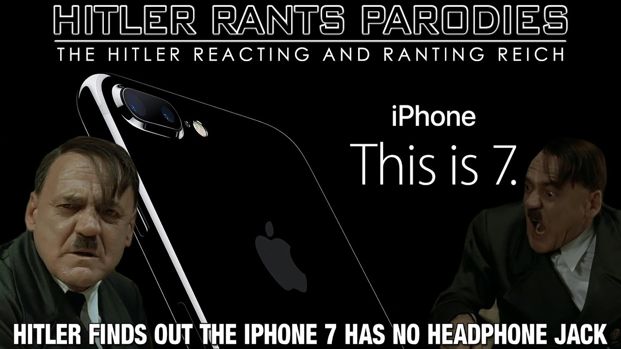 Hitler finds out the iPhone 7 has no headphone jack
