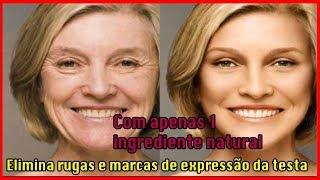 COM APENAS 1 INGREDIENTE NATURAL ELIMINARÁ RUGAS MANCHAS E LINHA DE EXPRESSÃO da testa #pele #rugas