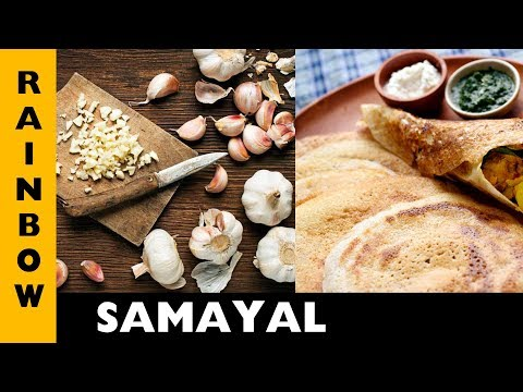 Garlic Dosa | Healthy Food | Easy Preparation | Tamil Tasty Recipe | Rainbow channel
