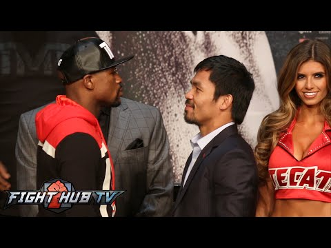 Floyd Mayweather vs. Manny Pacquiao full video- Full Face Off