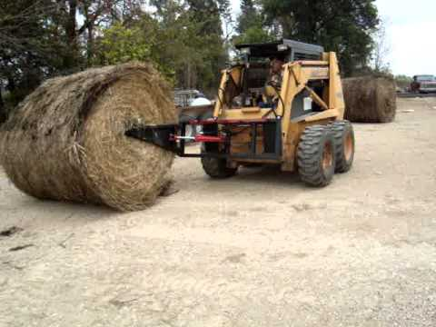Bale unroller for skidsteer any tractor loader or three point too