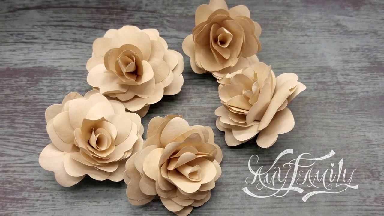 Цветы из офисной бумаги своими руками 613