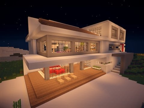 Minecraft modern house 7 modernes haus hd how to for Minecraft modernes haus zum nachbauen