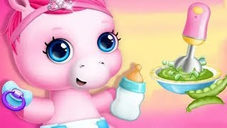 Fun new born Pony Pets Care - Pony Sisters Baby horse care || Babysitter Daycare Fun Games For Kids