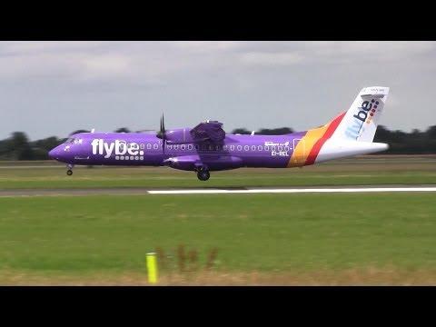 Flybe ► ATR 72-500 ► Landing ✈ Groningen Airport Eelde