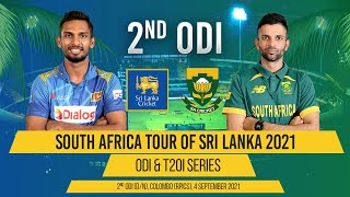 LIVE   2nd ODI - South Africa tour of Sri Lanka 2021