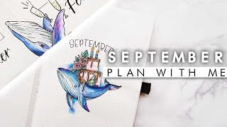 PLAN WITH ME September 2018 | Whale Bullet Journal Setup