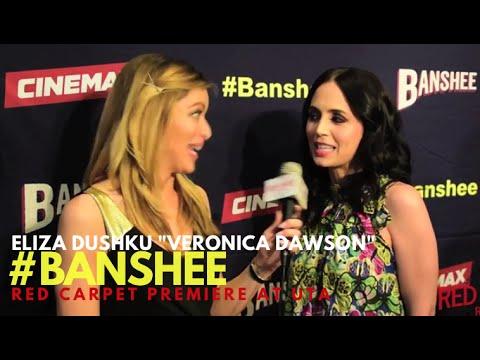 "Eliza Dushku ""Veronica Dawson"" interviewed at the Season 4 Premiere for Cinemax' Banshee #Banshee"