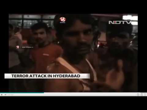 Serial Bomb Blast In Hyderabad Dilsukhnagar Today 7pm(21\02\13) - Must Watch video