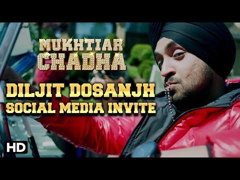 Diljit Dosanjh Aka Mukhtiar Chadha Invites You To Join The Social Media Of Eros Now Punjabi!