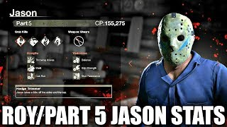 ROY/PART 5 JASON STATS (Friday the 13th the Game)