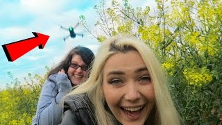 THE DRONE NEARLY CUT OUR HEADS OFF! 😂