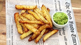 Homemade French Fries Crinkle Cut - Cafe Style Instant Crispy & Fluffy Recipe