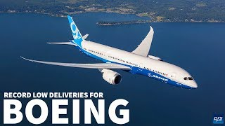 Boeing Deliveries Hit Record Low
