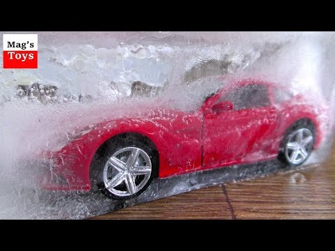 Toy Cars Getting Frozen and Unfrozen | Video for Kids