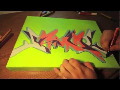 Graffiti Canvas Painting - 1