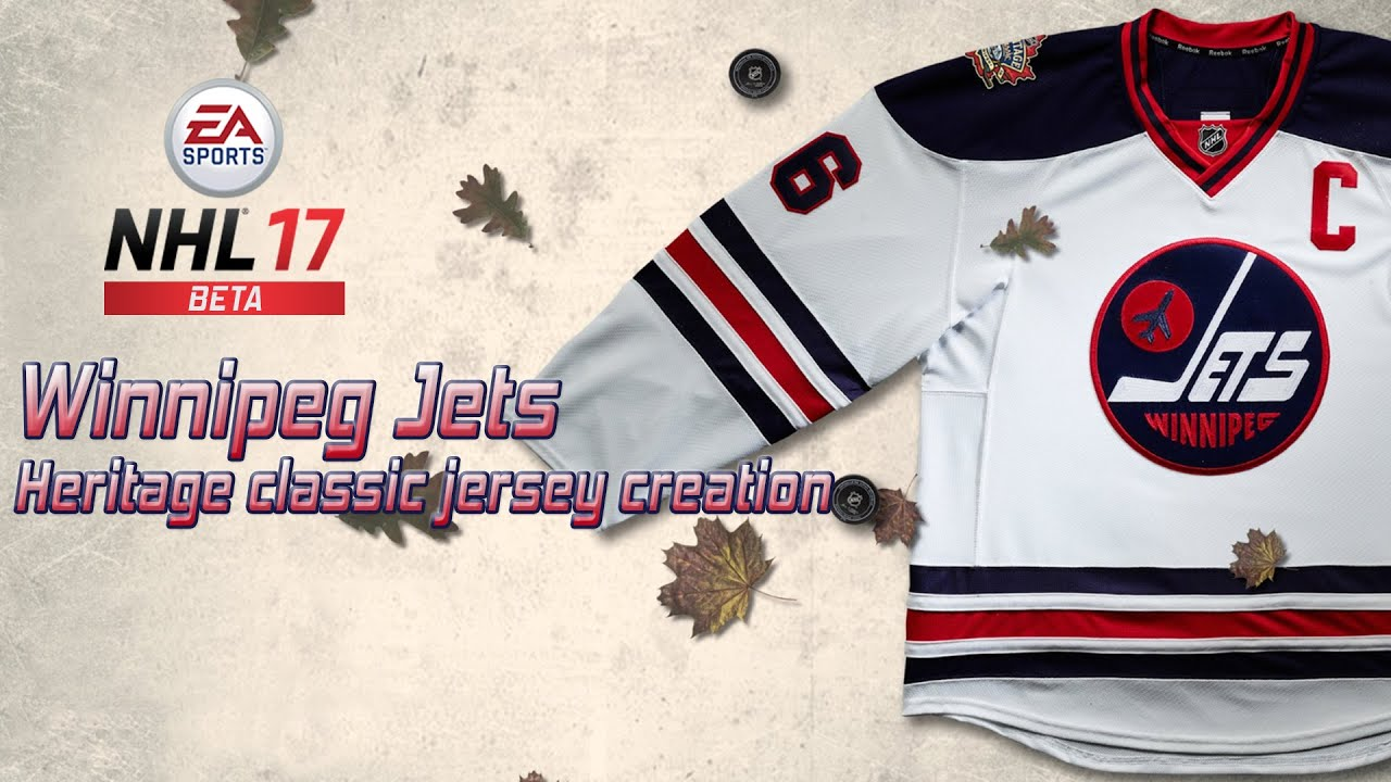 nhl winnipeg jets wallpaper NHL 17 Beta Winnipeg Jets Heritage Classic Jersey Creation YouTube