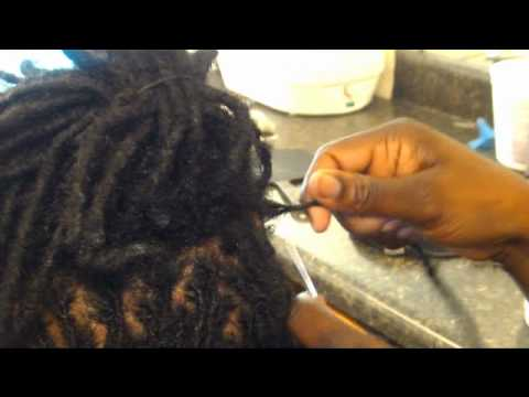 How to make dreadlocks ~STEP BY STEP~ NO Wax! (Interlocking with Latch