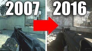 NEW Graphics Comparison! Call of Duty 4 vs Modern Warfare Remastered (2007-2016)