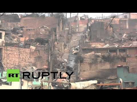 Chile: Valparaiso fire kills at least 11, destroys more than 1,000 homes