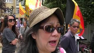 Cộng đồng người Việt tại VQ Bỉ biểu tình phản đối bán nước 99 năm cho giặcTau 16/06/2018 phần 1