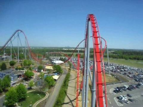 Intimidator Front Seat on-ride POV Carowinds
