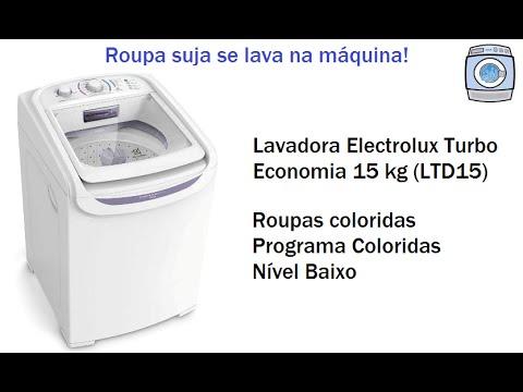 Lavadora Electrolux Turbo Economia 15 kg (LTD15) - Programa Coloridas