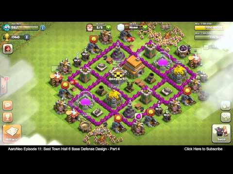 BEST Town Hall Level 6 (TH6) Base Defense Design Layout Strategy for Clash of Clans - Part 4
