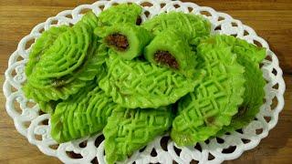 Nokshi Vapa Puli Pitha Recipe/Vapa Puli Pitha/Puli Pitha/নকশী ভাপা পুলি পিঠা/ভাপা পুলি পিঠা/পিঠা।