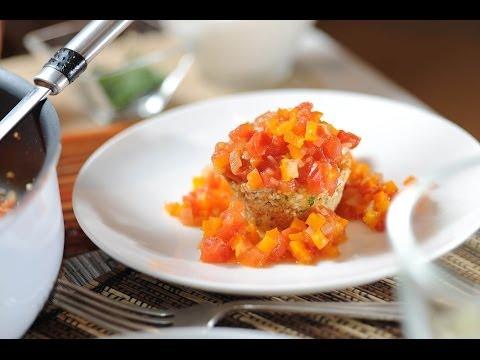 Tortitas de amaranto en salsa de jitomate - Amaranth croquettes - Recetas vegetarianas