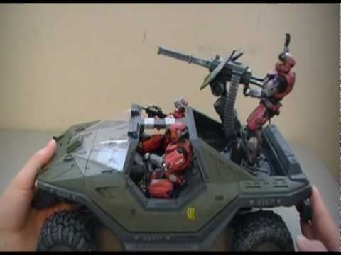 Halo Reach - Warthog Action Figure Review - Vehicle Series 1
