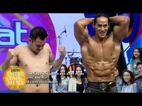 Inilah perbedaan badan antara Ade Rai dan Raffi [Dahsyat] [19 Okt 2015]