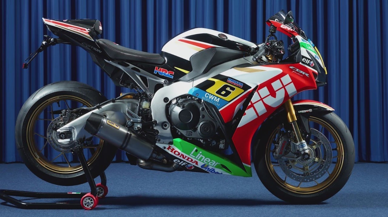 Stefan Bradl and the CBR LCR limited edition - YouTube