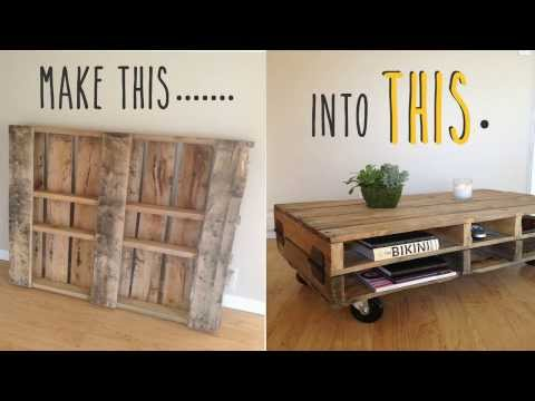 Plans For Making A Coffee Table Out Of Pallets