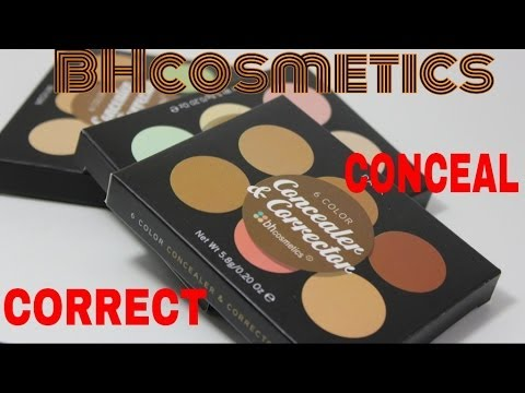 BH COSMETICS 6 COLOR CORRECTOR AND CONCEALER PALETTES LIGHT. MEDIUM AND DARK