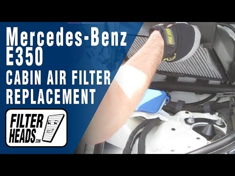Cabin air filter replacement- Mercedes-Benz E350