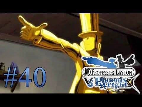 Let's Play Professor Layton Vs. Phoenix Wright Ace Attorney #40 Der goldene Fluch