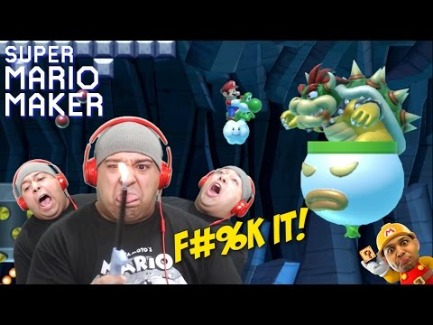 I'M BURNING THIS F#%KING GAME!! [SUPER MARIO MAKER] [#64]