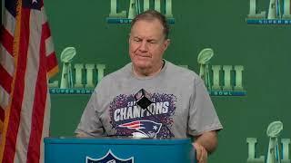 Bill Belichick Super Bowl 53 Patriots vs Rams Postgame Press Conference